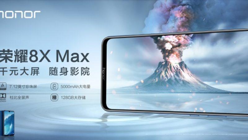 Honor 8X et 8X Max : les nouveaux smartphones milieu de gamme de la marque aux écrans surdimensionnés