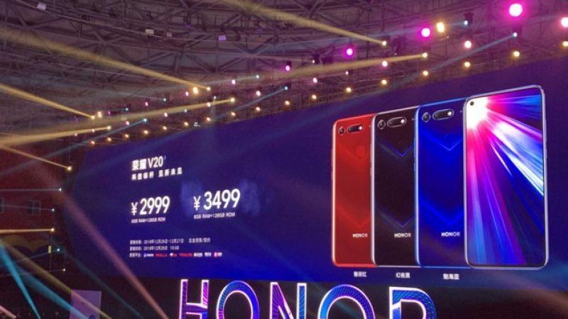 Honor View 20 officialisé : chipset Kirin 980 et photo 48 Mégapixels