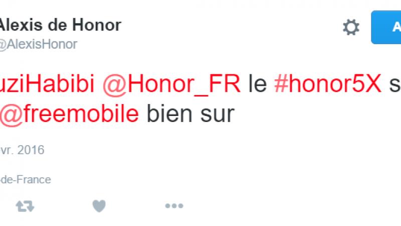 « Le Honor 5X sera chez Free Mobile » selon un représentant d'Honor