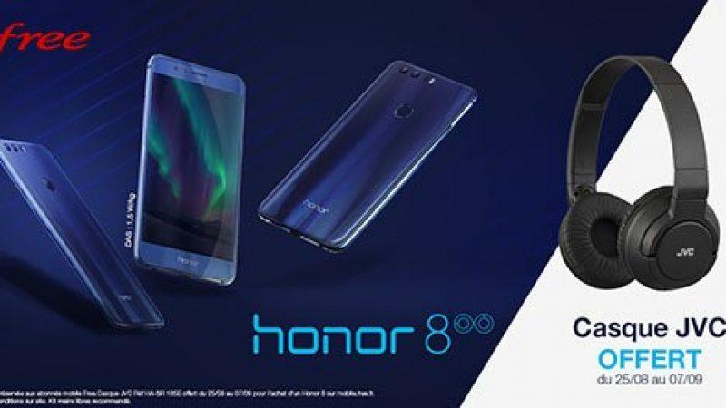 Nouveau smartphone disponible chez Free Mobile : le Honor 8