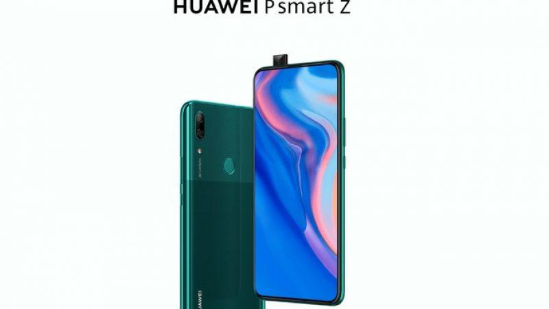 Huawei P Smart Z : le smartphone annoncé en France avec son capteur photo motorisé et sa grosse batterie