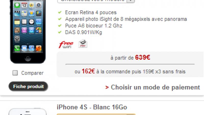 iPhone 5 et 4S : fin de stock dans la boutique Free Mobile ?