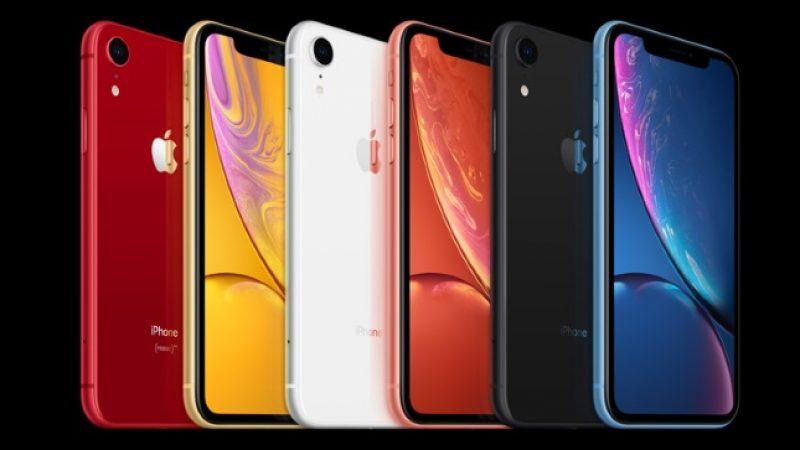 Parmi les iPhone 2018, l'iPhone XR est celui qui a le plus de succès