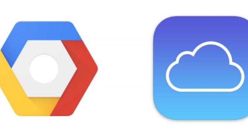 Apple utilise désormais les serveurs de Google pour stocker les données iCloud