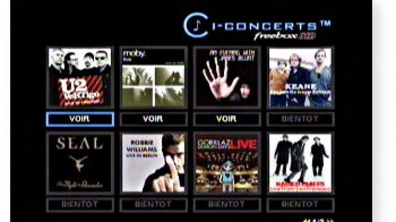 Fin de l'exclusivité d'iConcert HD sur Freebox TV