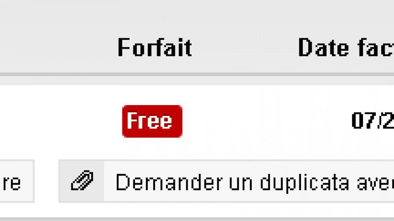 Envoi d'une facture Free Mobile  « masquée » ou « non masquée », à vous de choisir