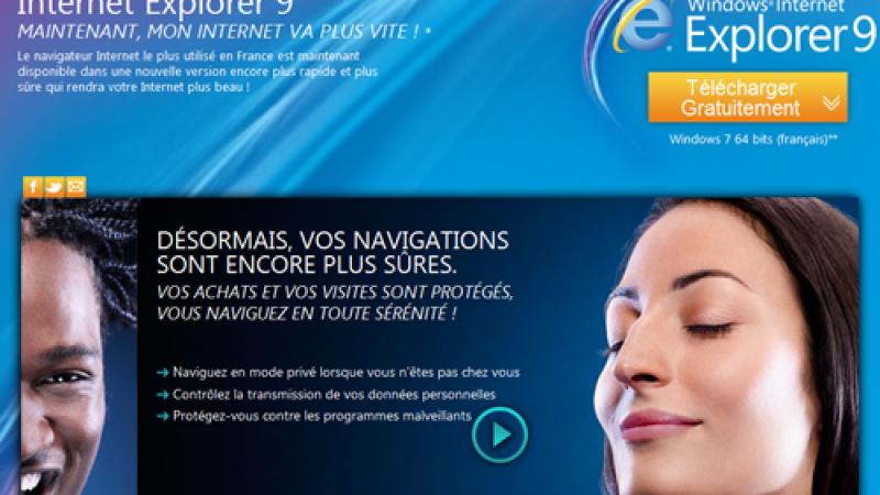 Free recommande Internet Explorer 9