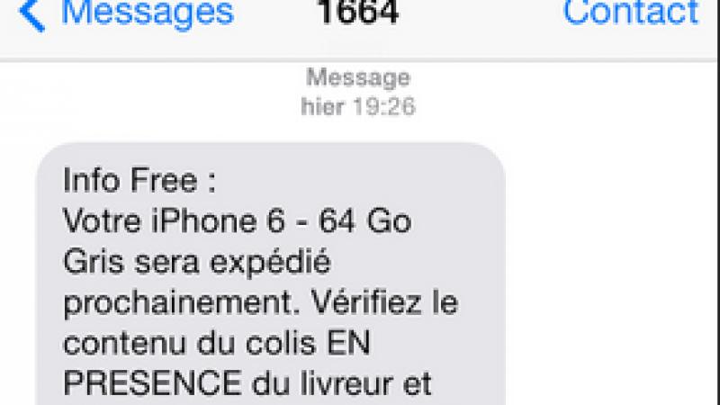 delai livraison free mobile iphone 6