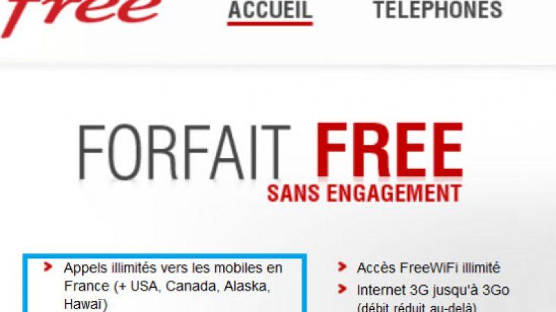 L'illimité revient sur les pages du site de Free Mobile