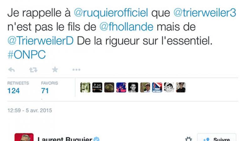 Ruquier vanne, Trierweiler clashe…
