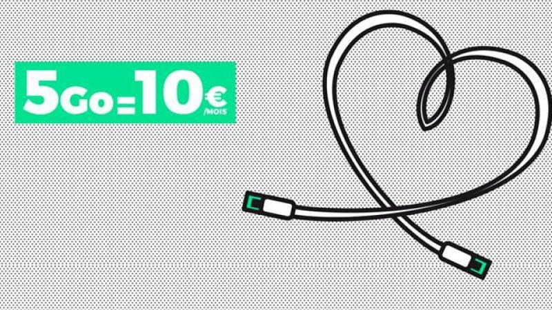 Le forfait Red 5GO de SFR en promotion à 10€ par mois