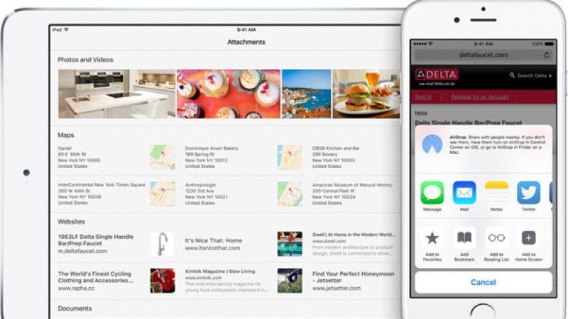 Apple promet de nombreuses nouveautés et améliorations avec iOS 9