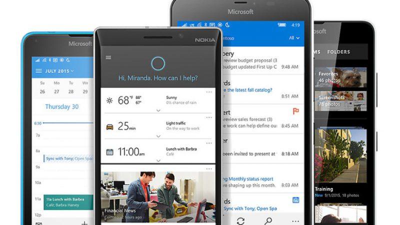 Windows 10 Mobile est officiellement disponible pour plusieurs anciens Lumia