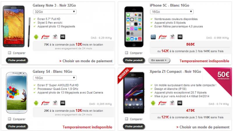 Free Mobile fait le plein de Samsung Galaxy S5 aux dépends de l'iPhone 5C et du Galaxy S4