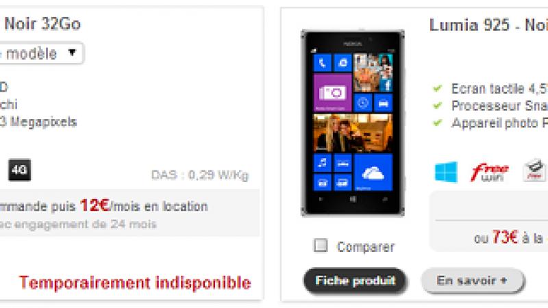 """Boutique Free Mobile : trois téléphones 4G """"indispos"""""""