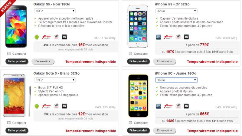 """Boutique Free Mobile : de nouveaux terminaux font """"le pont"""""""