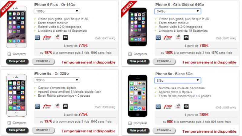 Free Mobile : de nombreux terminaux indisponibles