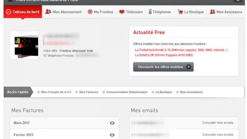L'interface abonné Freebox a été entièrement relookée