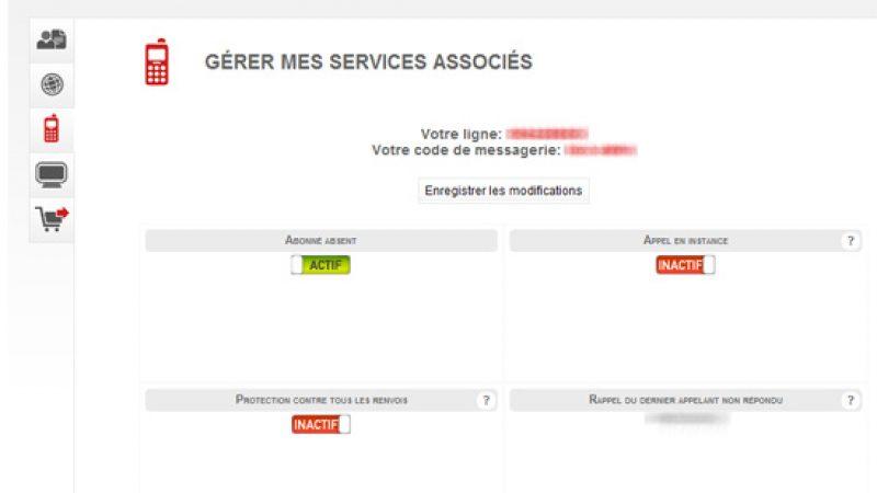 Free: Nouvelle interface de gestion des services téléphoniques
