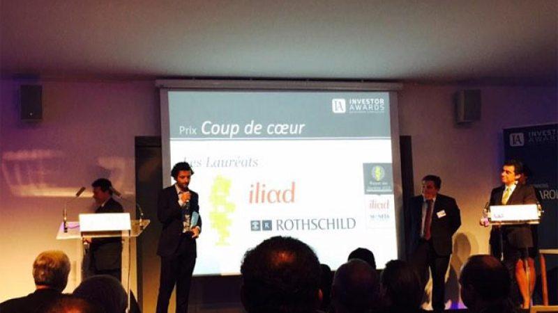 """Iliad reçoit le prix """"coup de coeur"""" aux Investor Awards, pour la 2ème année consécutive"""