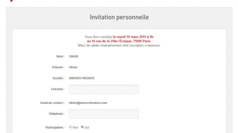 Surprise Free : des invitations nominatives pour une keynote qui se déroulera au siège de Free