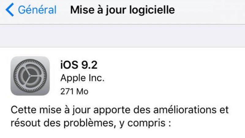 Apple lance iOS 9.2 : des améliorations dans Apple Music et Mail