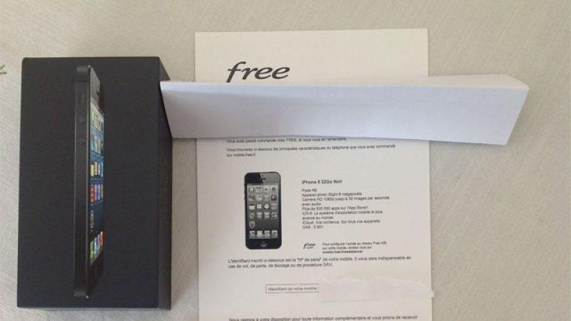 La réception des iPhones 5 Free Mobile en image