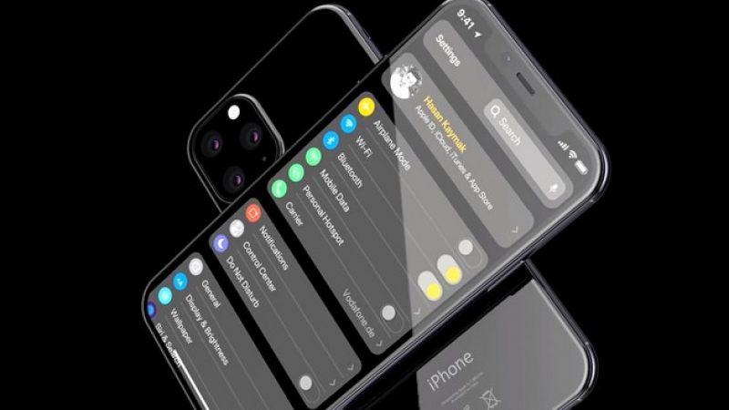 Les iPhone XI et XI Max se montrent en concept dans une vidéo
