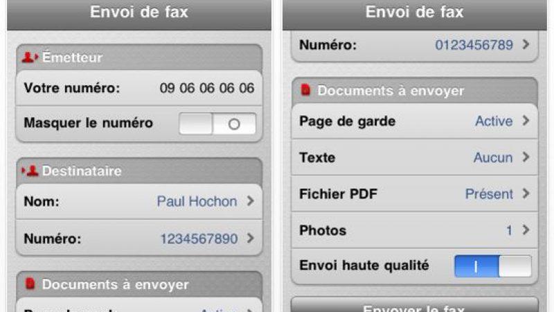 Nouvelle mise à jour pour Freebox Fax sur iPhone