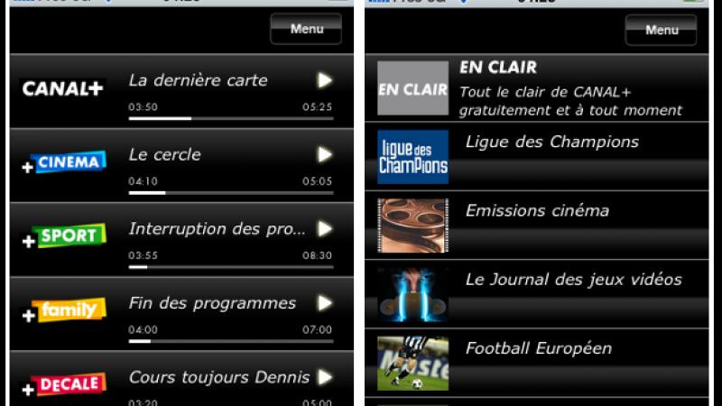 Canal+ et Canalsat s'invitent sur l'iPhone