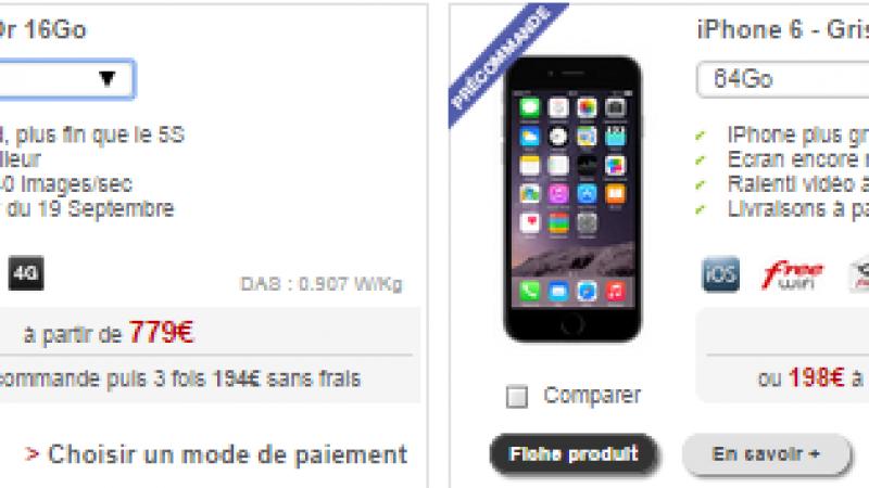 Boutique Free Mobile : les iPhones 6 et 6 Plus accessibles en pré-commande