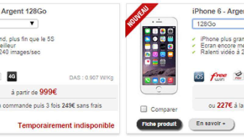 Free Mobile fait le plein d'iPhone 6 et le vide d'iPhone 6 Plus
