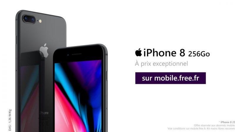 Free Mobile : baisse exceptionnelle de 100€ sur l'iPhone 8