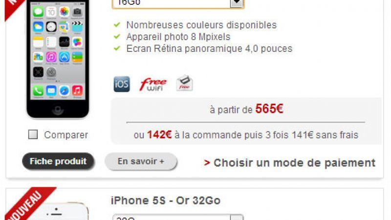 Free Mobile simplifie l'information donnée sur la disponibilité des iPhones