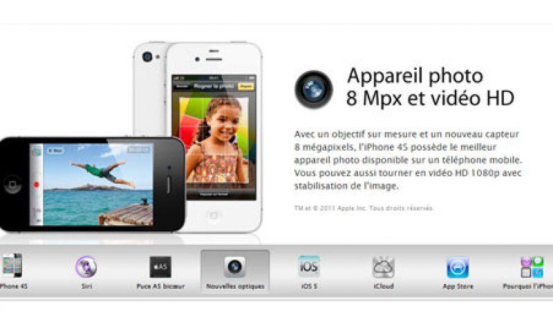 Le site de Free Mobile présente l'iPhone 4S