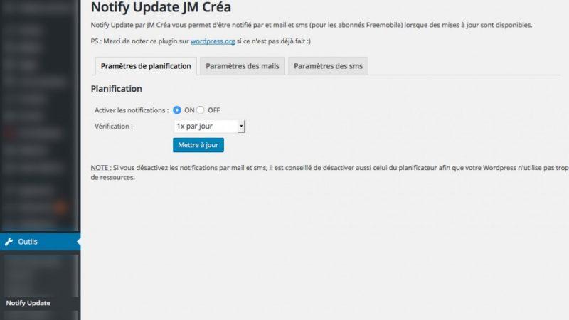 """Free Mobile : grâce au service """"Notification par SMS"""", soyez prévenus dès mises à jour WordPress"""