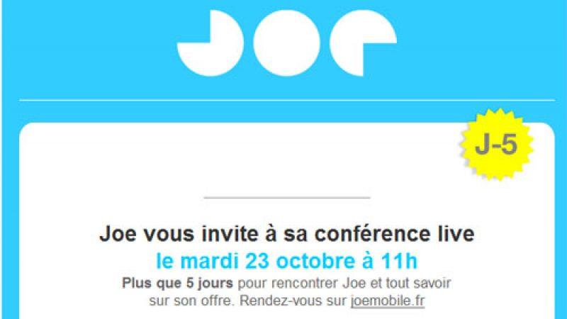 Comme Free, Joe Mobile va organiser une conférence de lancement retransmise en live