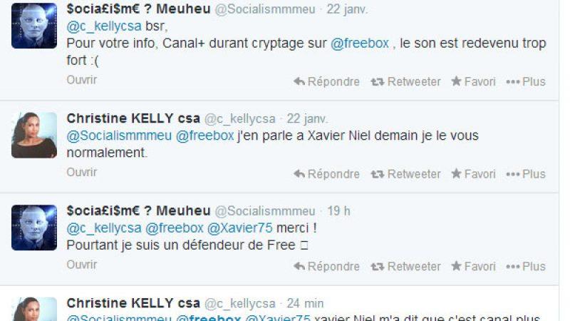 Freebox : Canal+ hausse le son, Christine Kelly (CSA) et Xavier Niel réagissent