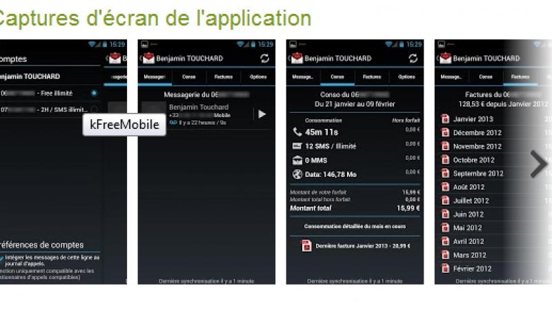 kFreeMobile pour Android se met à jour