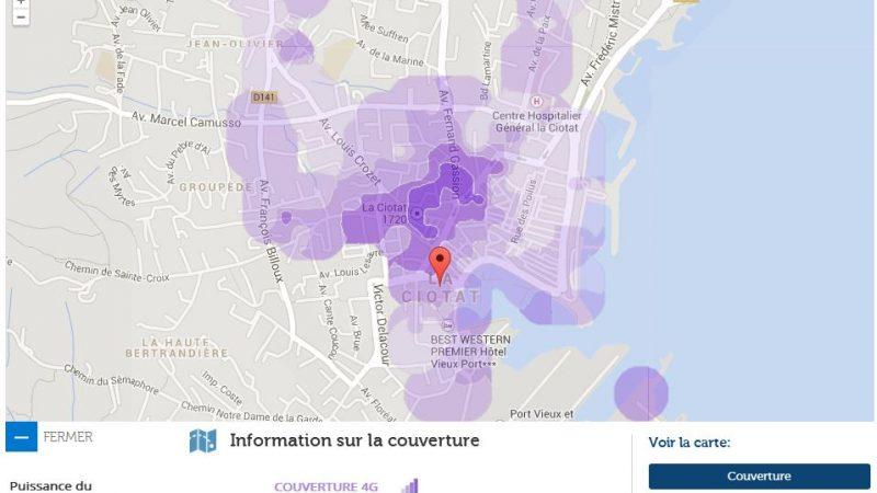 Couverture et débit 4G Free Mobile : Focus sur La Ciotat
