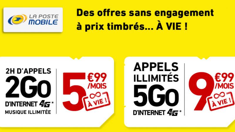 La Poste Mobile lance 2 offres sur Showroom Privé avec réduction valable « à vie »
