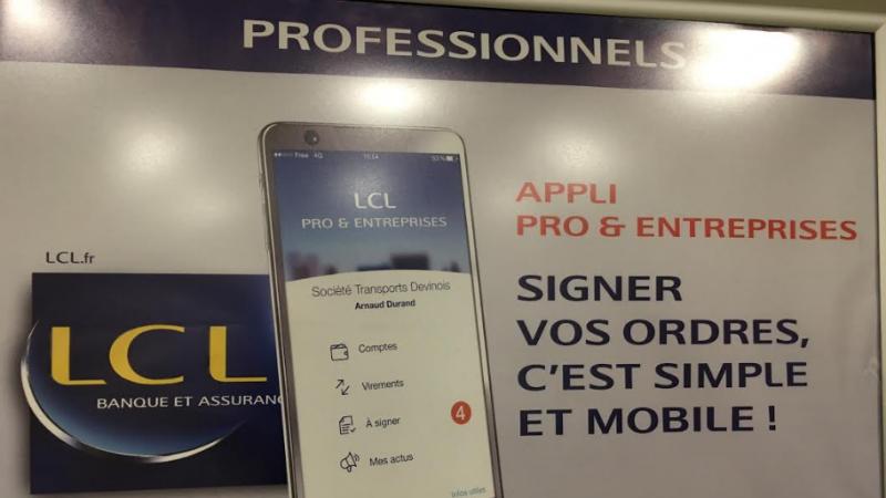 Clin d'œil : A la banque LCL, on est chez Free Mobile, et en 4G