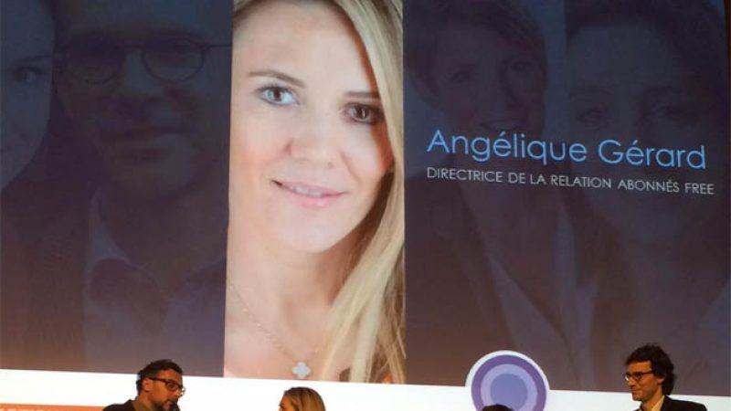 Angélique Gérard, la directrice de la relation abonné de Free, reçoit le prix espoir du leadership