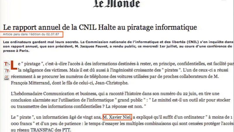 [Clin d'œil] : Quand un jeune homme de 20 ans piratait le réseau PTT de l'Elysée : Xavier Niel