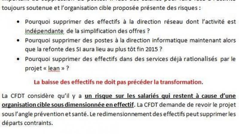 """La CFDT souligne """"l'aberration"""" du plan de départ annoncé par Bouygues Télécom"""