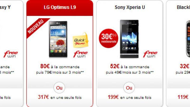Nouveau : Le LG Optimus L9 disponible dans la boutique Free Mobile