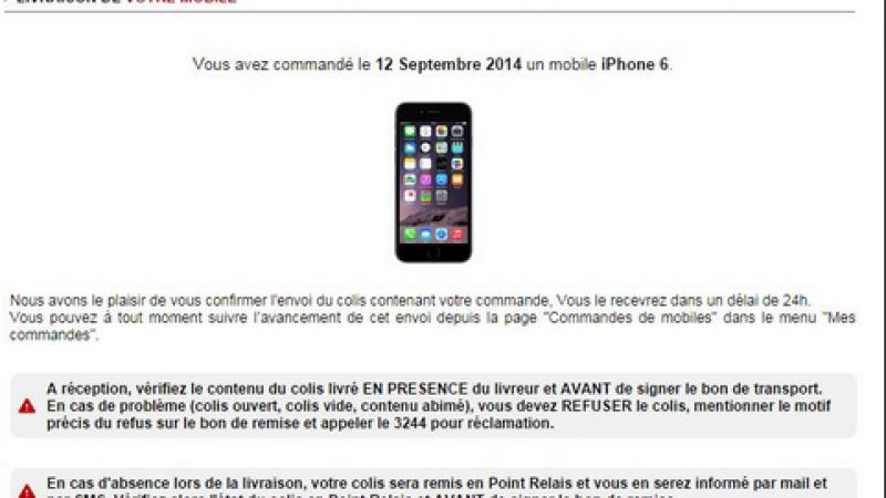 iPhone 6 et 6 Plus : premières livraisons Free Mobile confirmées pour demain