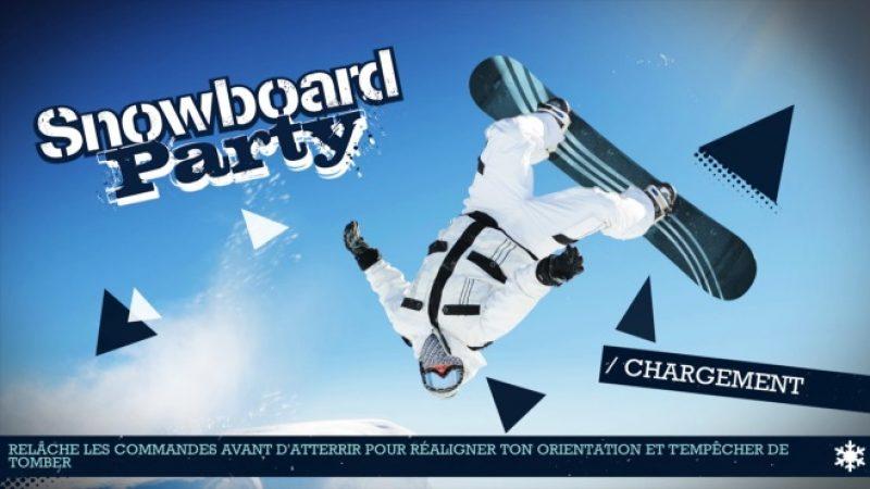 Freebox Mini 4K : réalisez les figures les plus folles avec « Snowboard party »