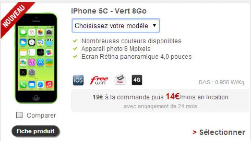 Free Mobile : l'iPhone 5c est désormais proposé en location