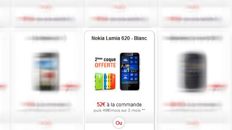Le Nokia Lumia 620 disponible dans la boutique Free Mobile !